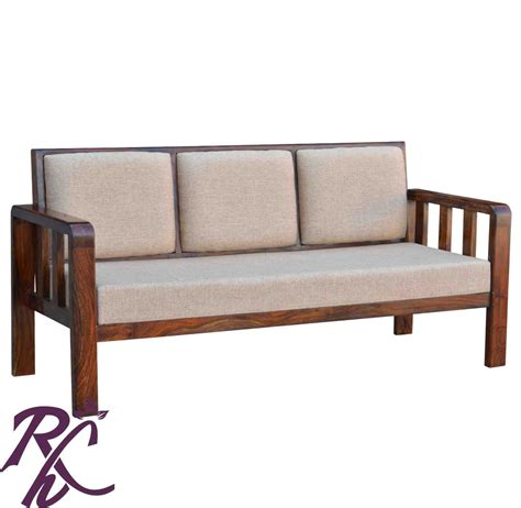 simple loveseat buy simple solid wood sofa online in india rajhandicraft