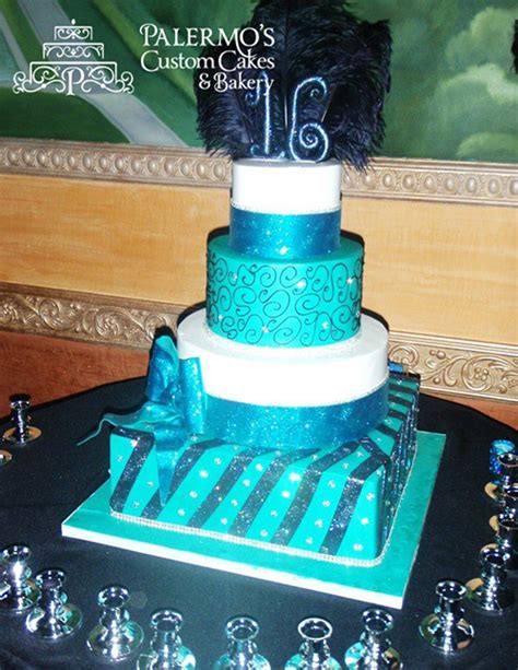 Explosion Box Blue Cupcake sweet 16 cakes palermo s custom cakes bakery