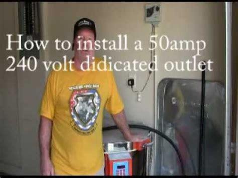 installing a 50 240 volt outlet 28