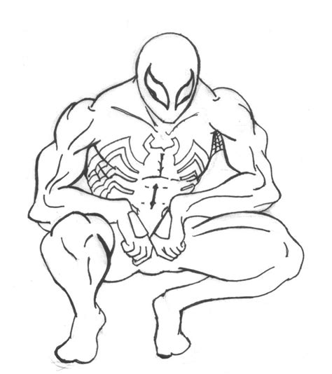 spiderman and venom coloring page az coloring pages