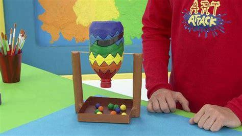 nuestras manualidades infantiles art attack juego de bingo con una botella de pl 225 stico dos tubos y