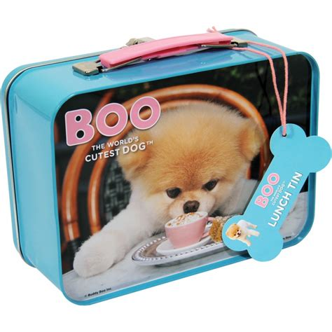 puppy lunch box boo the worlds cutest tin tote lunch box puppy kitsch gift ebay