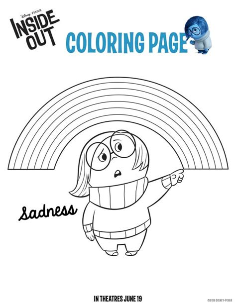 disney pixar coloring pages inside out disney pixar inside out sadness coloring page mama likes