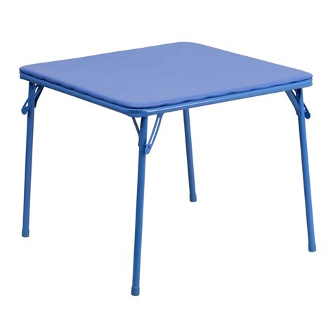blue folding table foldingchairs4less