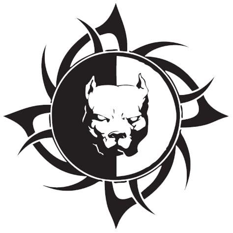 tribal pitbull tattoo designs mad pitbull muzzle in tribal frame design