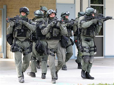 the boston swat team looking operator as f military
