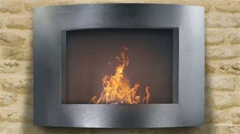 pureflame lets you hang a fireplace on your wall
