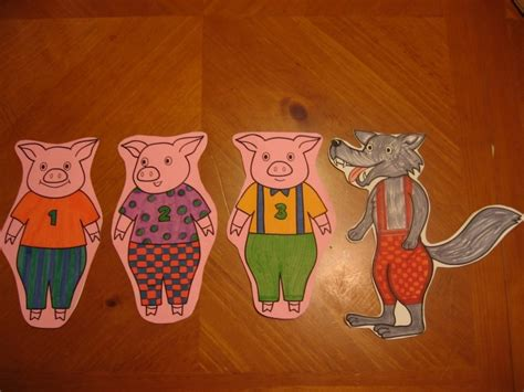 the three pigs puppet templates three pigs puppet printables