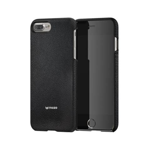 Back Iphone 7 Plus back cover for iphone 7 plus black leather mozo