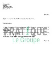 Modèle De Lettre Gratuite Pour Entreprise Lettre 224 La Banque Demande De Modification Du Montant D Un Virement Pratique Fr