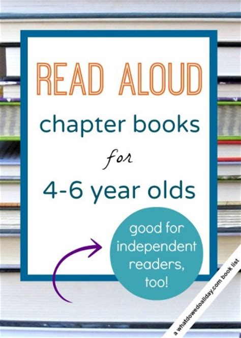 The Book Of List 4 read aloud chapter books for 4 and 5 and 6 year olds