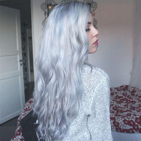 silver hair with pravana pravana chromasilk vivids hairdye in silver hair