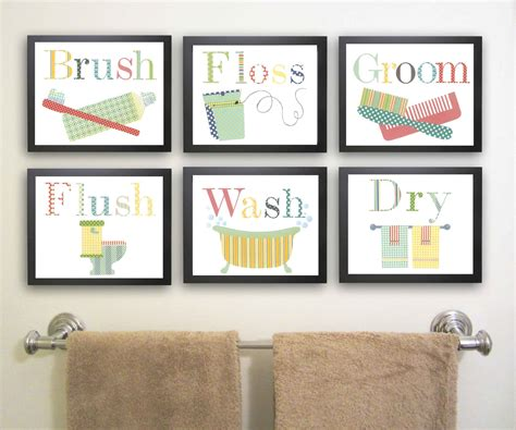 kids bathroom wall decor bathroom wall art decorating tips 187 inoutinterior