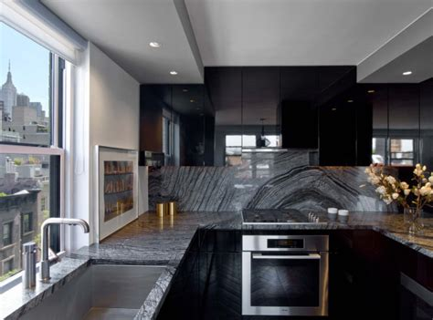 Backsplash For Kitchen Walls Nyc Apartment Inspired By Tom Ford And Halston Design Milk