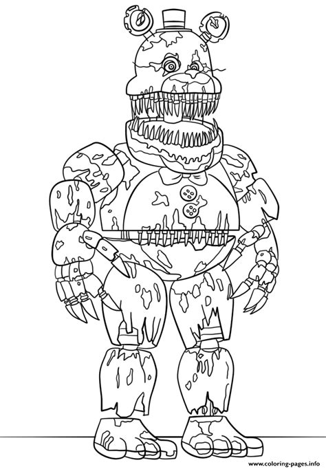 scary coloring pages print nightmare fredbear scary fnaf coloring pages joe s
