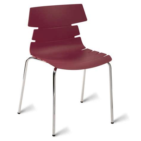 Plum Dining Chairs Hoxton 4 Leg School Cafe Chair