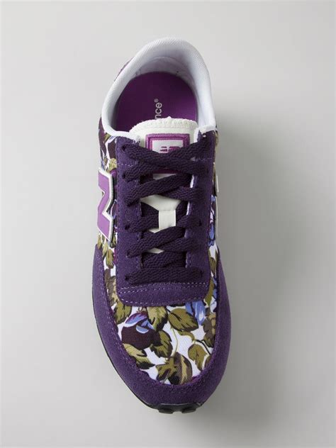 flower shoes purple new balance 410 floral print sneakers in purple lyst