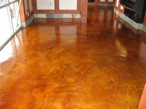 Brown Color Painting Concrete Floor Inside House In The