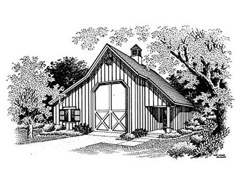 Rv Barn Plans by Outbuilding Plans Barn Style Rv Garage With Storage