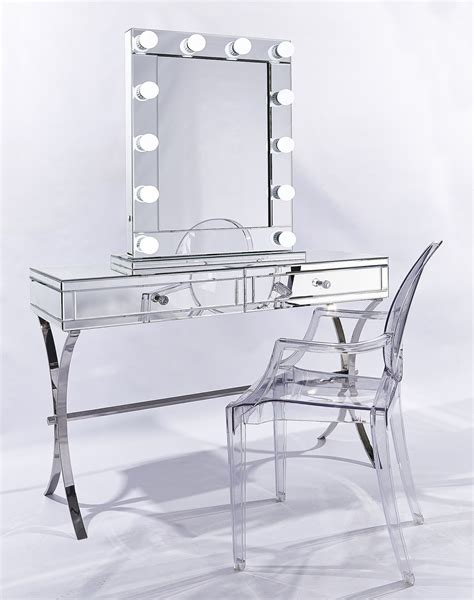 mirrored console vanity table set luxury vanity makeup mirror barcelona