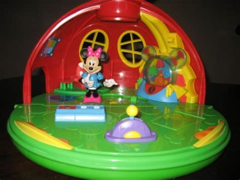 mickey mouse doll house mickey mouse talking interactive minnie figure clubhouse club doll house fold up ebay