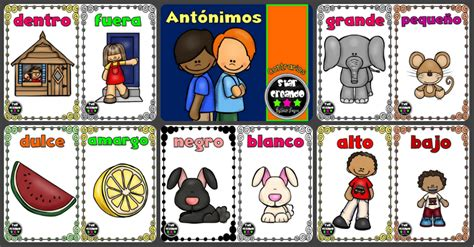 imagenes educativas opuestos opuestos ant 243 nimos o contrarios tarjetas para trabajar