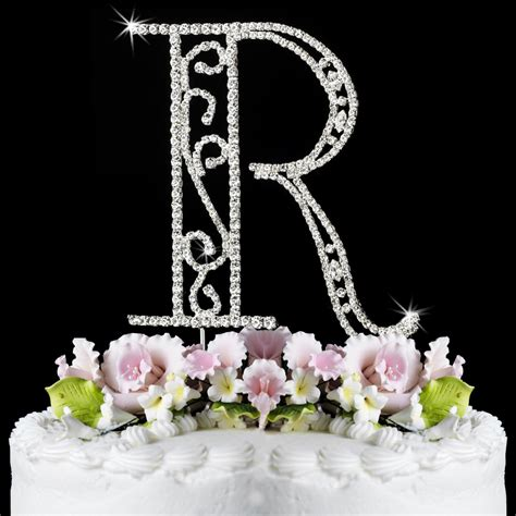 Wedding Cake Letter Toppers by Wedding Cake Toppers Wedding Cake Initial Toppers