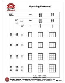 standard basement window size fixed casement window size chart from brown window corporation