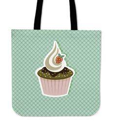 Totebag Capcake C cupcake watercolor tote bag baking bags