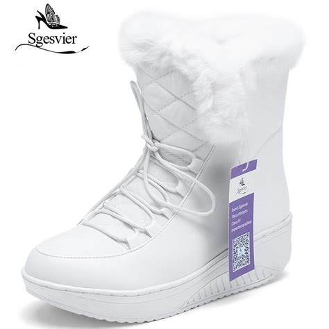 Squishy Snow Boots sgesvier winter sale shoes boots solid slip on soft snow boots toe flat