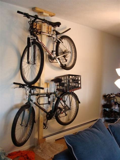 Garage Apartment Floor Plans Do Yourself hang your bike on the wall with mike sapak s diy bike rack