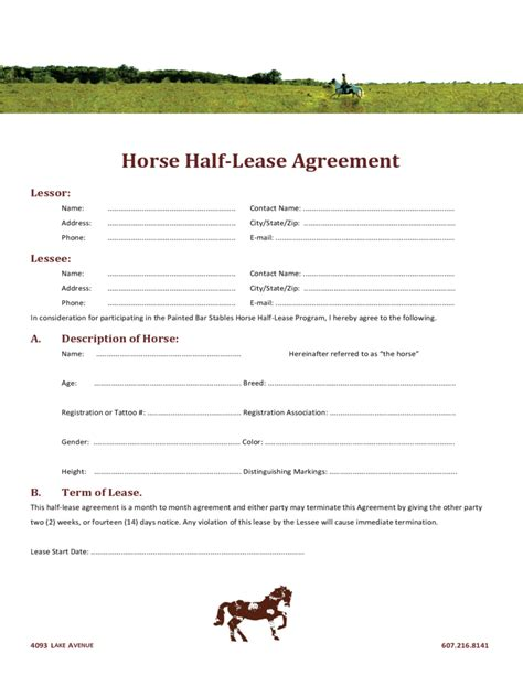 Sample Resume Pdf File by Horse Lease Agreement 6 Free Templates In Pdf Word