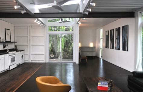 Interior Of Shipping Container Homes by Two Shipping Containers Turned Into A Small House