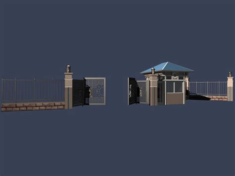 the guard room gate and the guard room 3d model 3dsmax files free modeling 8322 on cadnav