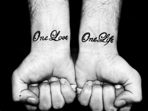 one love one life tattoo one one