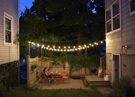 Outdoor String Lights Small Backyard Ideas 9 Ideas To How To String Lights In Backyard