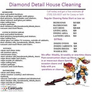 archived detail house cleaning new customer