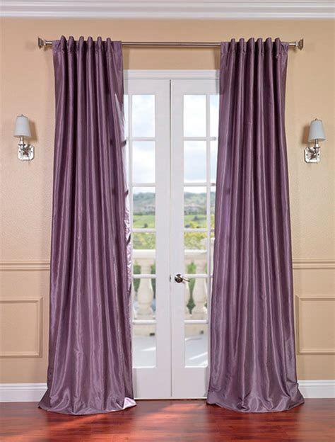 plum curtains smokey plum vintage textured faux dupioni silk curtain