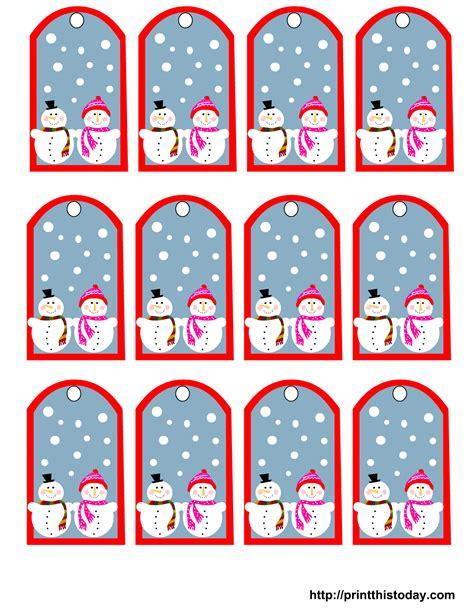 free printable gift tags templates free printable snowman gift tags