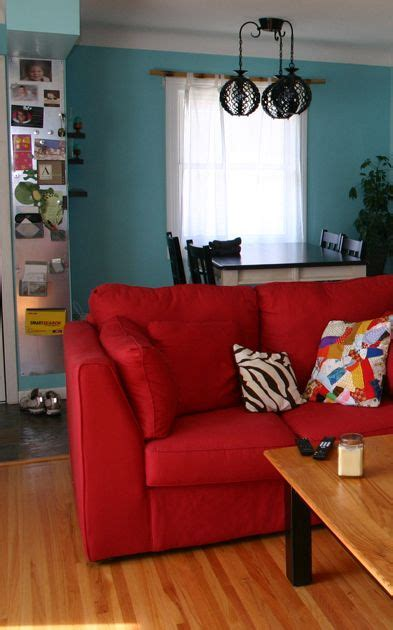 blue walls red couch 10 best ideas about red couch rooms on pinterest red