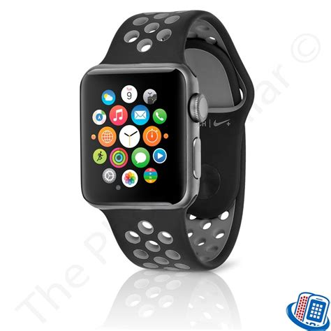 Nomad Sport Apple 42mm Band Silicone Black Grey apple nike 42mm space gray aluminum black cool gray nike sport band 190198200198 ebay