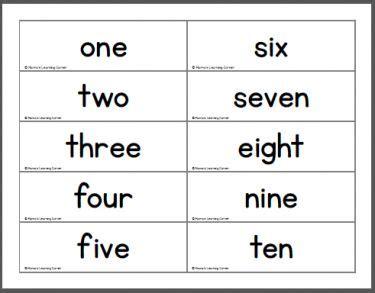 printable word number cards 10 free worksheets 187 number words printable free math