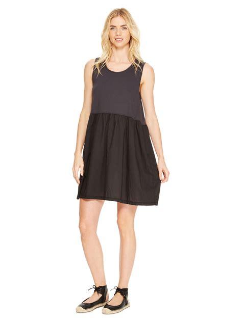 Cotton Dress 30513 2 lyst dkny sleeveless cotton dress in purple