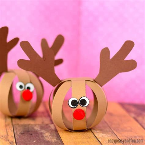 reindeer craft projects paper reindeer craft easy peasy and
