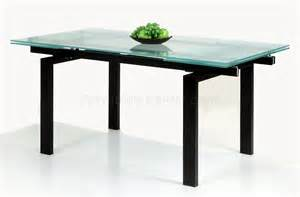glass table extendable top modern dining table w optional