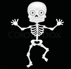 funny skeleton cartoon stock vector colourbox