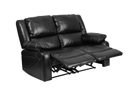 leathersoft upholstery flash furniture harmony series black leather loveseat two