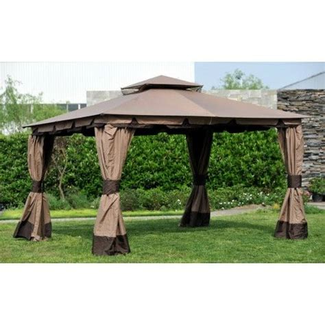 Backyard Creations Steel Roof Gazebo Osj Hton10x12 Gazebo Replacement Canopy Fabric