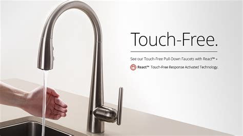 touch free kitchen faucet pfister react touch free faucet pfister faucets kitchen