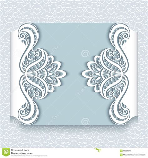 paper lace templates card paper lace card with cutout borders vector
